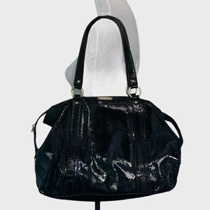 Michael Kors large patent Black python bag